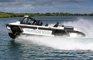 Humdinga p2 – on water left side view